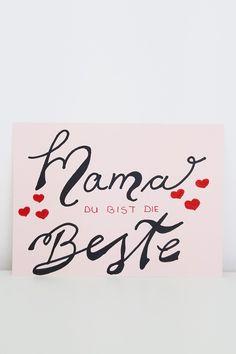 Mama du bist du Beste - Foto Gitter zum Muttertag Inspiration, Home Decor, Good Photos, Pictures, Postcards, Homemade Home Decor, Biblical Inspiration, Decoration Home, Inhalation