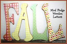 fall mod podge letters