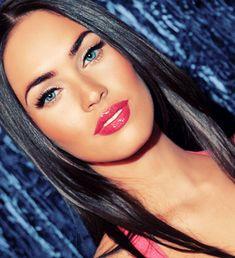 Megan Fox makeup. No lie, this girl is hot. Just admit it.
