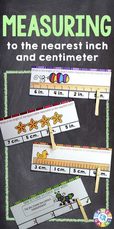 centimeter and inch measurement cards 2nd grade common core centers stations from busy me. Black Bedroom Furniture Sets. Home Design Ideas