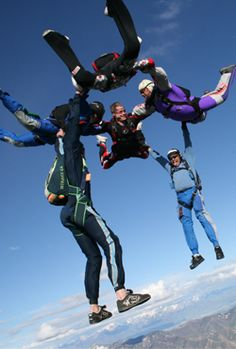 Sky Diving......this will be Me, Sarah and Phil after graduation.