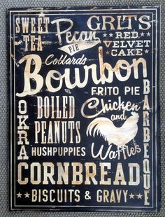 """Southern Foods 18""""x24"""" wood sign"""