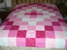 I love the colors of this quilt. It's an adult version of the baby quilts I've made. This pattern costs $1.95.