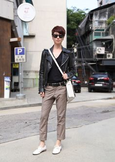 deliciously androgynous in Seoul. StyleSophomore   Asian Street Fashion & Street Style by Stacey Young