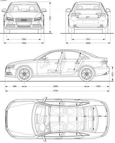 Cool Audi 2017: 2008 Audi A4 (Typ 8E) Sedan blueprint...  Projects to try Check more at http://carsboard.pro/2017/2017/04/25/audi-2017-2008-audi-a4-typ-8e-sedan-blueprint-projects-to-try/
