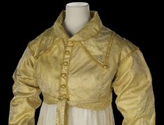 Yellow silk spencer in the Charles I revival style, National Maritime Museum, Greenwich, London