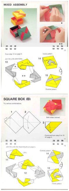 Modular Origami Box :4-unit