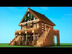 Minecraft - How To Build A Birch Survival House - Minecraft Servers Web - MSW - Channel Plans Minecraft, Minecraft Server, Minecraft World, Modern Minecraft Houses, Minecraft Mansion, Minecraft House Tutorials, Minecraft Houses Survival, Minecraft Houses Blueprints, Minecraft House Designs