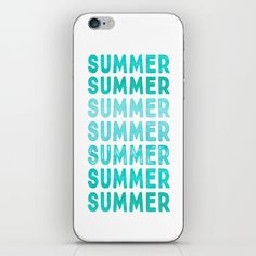 SUMMER- typography iPhone & iPod Skin