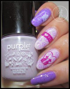 Betty Nails: Valentines Day #7 Nailart - Purple Professional
