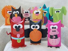 Learn how to make adorable toilet tube animals in this fun craft using recycled cardboard tubes.