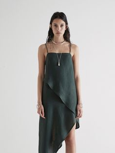 Sir the label, Rosa Wrap Dress - Forest