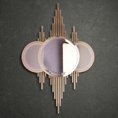 Luxury Art Deco Inspired Designer Gold Plated Mirror - Juliettes Interiors Luxury Art Deco Inspired Designer Gold Plated Mirror<br> Luxury Art Deco Inspired Designer Gold Plated Mirror at Juliettes Interiors. Living Room Inspiration, Furniture Inspiration, Art Deco Bedroom, Art Deco Mirror, Diy Mirror, Living Room Mirrors, Art Deco Furniture, Art Deco Design, Room Colors