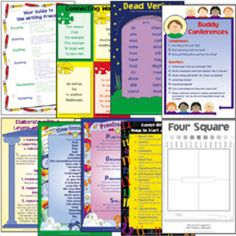 http://www.intagoal.com/classroom-decorations/charts/four-square-writing-method-charts.html