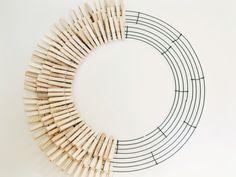 DIY Clothespin Wreath - zevy joy