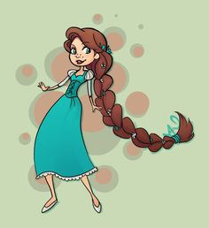 Rapunzel Braided : Alternate Color by *Flameprincess88 on deviantART