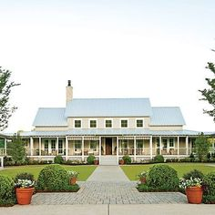 Tennessee Farmhouse.  Like the straight tin roof.