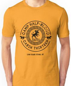 Percy Jackson - Camp Half-Blood - Cabin Thirteen - Hades Unisex T-Shirt