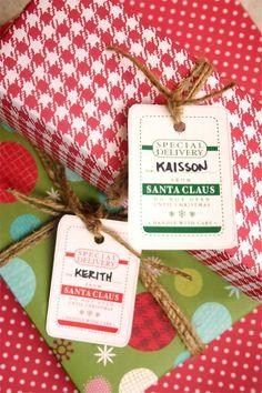 Free Printable Santa tags