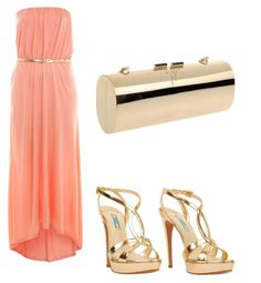 light pink dress, gold accents :: goddess-y