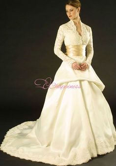 Winter 2015 wedding dresses with long sleeves fashion lace appliques grecian wedding dress