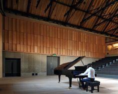 The Britten Studio, aggregate concrete walls