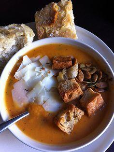 Helsinki: Restaurant Qulma sweet potato soup