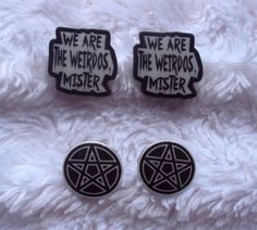 The Craft Stud Earrings Set We are the by MirroredOpposites, $6.50