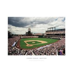 ''Coors Field Denver'' by Ira Rosen Photography Art Print