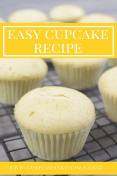 EASY VANILLA CUPCAKE RECIPE FROM SCRATCH - Chef Lola's Kitchen #ChocolateRaspberryCake Homemade Cupcake Recipes, Cupcake Recipes From Scratch, Recipe From Scratch, Dessert Recipes, Moist Cupcake Recipes, Easy Recipes, Baking Recipes Cupcakes, Vanilla Recipes, Delicious Recipes
