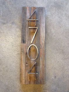 Reclaimed wood Address Plaque - custom, personalized, house numbers, address sign, cabin, cottage, housewarming gift, address plate by MadeWithBeerInHand on Etsy https://www.etsy.com/listing/509449060/reclaimed-wood-address-plaque-custom
