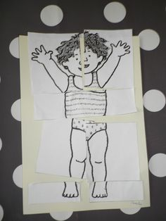 Thema 'Mijn lichaam & kleren': Lichaamspuzzel