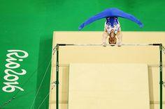 Team GB's Nile Wilson on the High Bars at Rio 2016