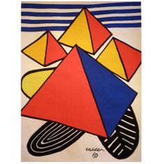 'Pyramides Rouges' Tapestry by Alexander Calder