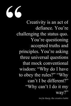 Twyla Tharp, The Creative Habit #dance #quote #twylatharp
