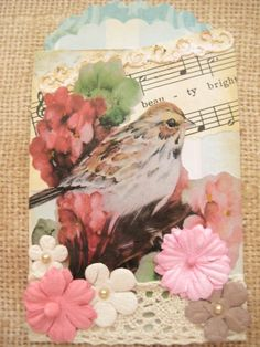 Vintage ATC with a Feather | Flickr - Photo Sharing!