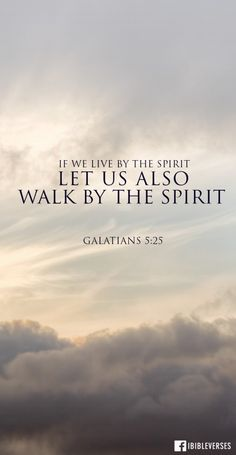 "...let us keep in step with the Spirit. (NIV). Let Holy Spirit guide and lead you each day. Verse 26 says ""Let us not become conceited provoking and envying each other."" Because if we are walking by the Spirit, then the fruit of the Spirit will show which is love, joy, peace, forbearance, kindness, goodness, faithfulness, gentleness and self-control."