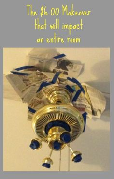 Paint Your Ceiling Fan Without Removing It From The Ceiling!