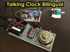 This digital clock speaks the time in two languages (English or Portuguese). By LAGSILVA.