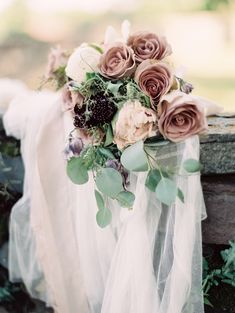 rose quartz hued bouquet