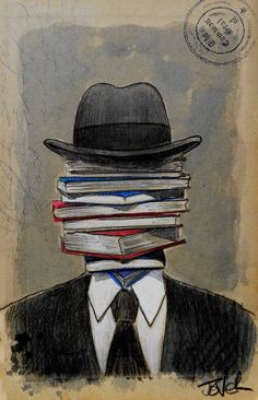 "Saatchi Art Artist: Loui Jover; Ink 2014 Drawing ""mr wellread"""