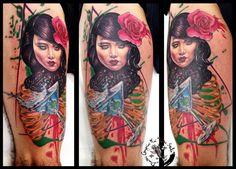 Martini lady by dimitris grapsias koi tattoo