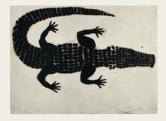 KATEBOXER Alligator, drypoint and carborundum, 73 x 99 cm