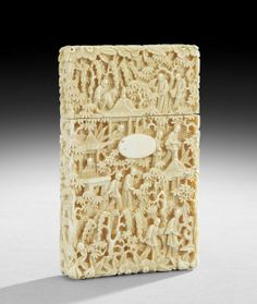 b248ea0e1d71a9 Chinese Carved Ivory Card Case on