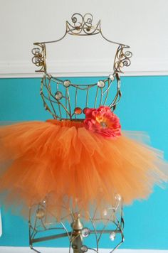 Tangerine Infant/Toddler tutu by LilTotWonder on Etsy, $19.00