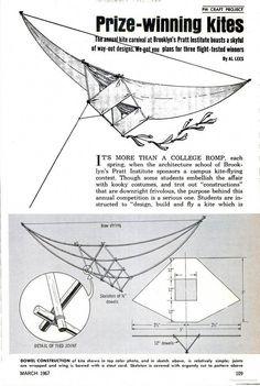 Popular Mechanics - Google Books #WoodworkingProjectsBeginner Kite Surf, Go Fly A Kite, Projects For Kids, Crafts For Kids, Craft Projects, Kite Building, Chinese Kites, Kites Craft, Bird Kite