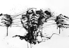 Drawing Restraints Fine Art Print by Agnes Cecile. Authentic giclee print artwork on paper or canvas. Wall Art purchases directly support the artist. Inspiration Art, Art Inspo, Arte Grunge, Wall Art Prints, Fine Art Prints, Wall Mural, Agnes Cecile, Kunst Poster, Wow Art
