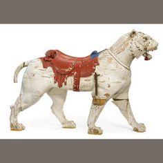 Carousel Tiger Sold for US$ 36,250 inc. premium.   Philadelphia Toboggan Co. c1900-1910