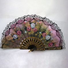 Lace Edge Dancing Props Multi-Colors Spanish Style Hand Held Fabric Fans Party Supplies Good for Gifts