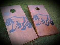 California, Cornhole Boards, bear, star games